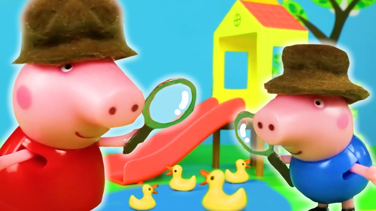 Peppa Pig Solves the Missing Teddy Mystery   Peppa Pig Stop Motion   Peppa Pig Toys   Toys fir Kids