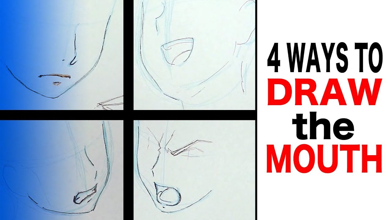 How to draw anime mouth 4 ways fail and recover tutorial