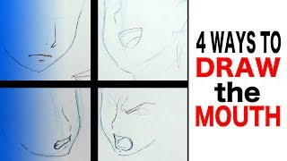 How to Draw Anime: Mouth (4 Ways)