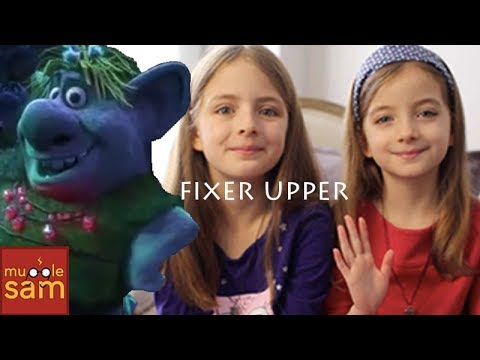 FIXER UPPER - Frozen Troll Song 🎵 10-Year-Old Sophia and 8-Year-Old Bella