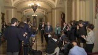 Senate leaders debate impeachment inquiry