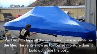 Shrink Wrapping a boat