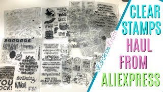 Clear Stamps Haul Aliexpress incl coffee clear stamps, thinking of you clear stamps, tea clear stamp