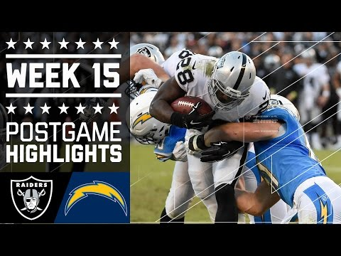 Raiders vs. Chargers | NFL Week 15 Game Highlights