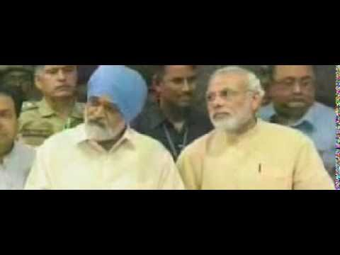 Montek Singh Ahluwalia, Narendra Modi brief media on Gujarat's meeting with Planning Commission
