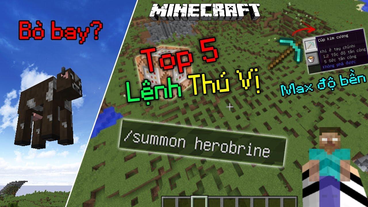 Top 5 Lệnh Đặc Biệt Mà Bạn Chưa Từng Biết Trong Minecraft !! - Game1