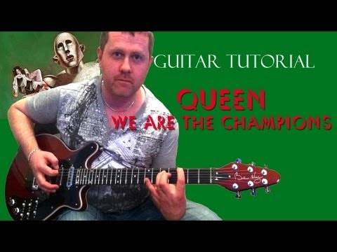 We Are The Champions - Queen - guitar tutorial