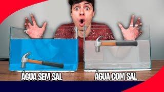 AFUNDA OU BOIA COM ÁGUA E SAL! - Desafio