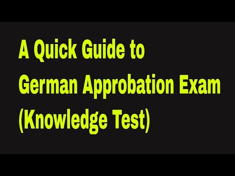 A Quick Guide To German Licensing Exam ( deutsche Approbation)