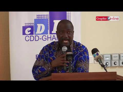 Prof H. K. Prempeh speaking on Corporate governance under Akufo-Addo's one year administration