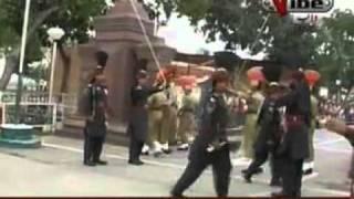 patriotic sikh sardar at waga border ceremony 14 august