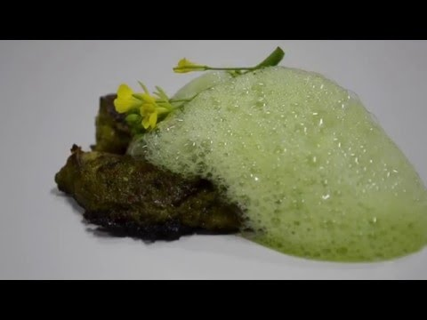 Cilantro Foam And Grilled Sole