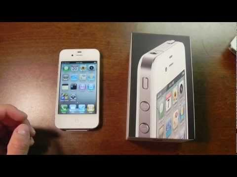 White iPhone 4 (16GB) unboxing