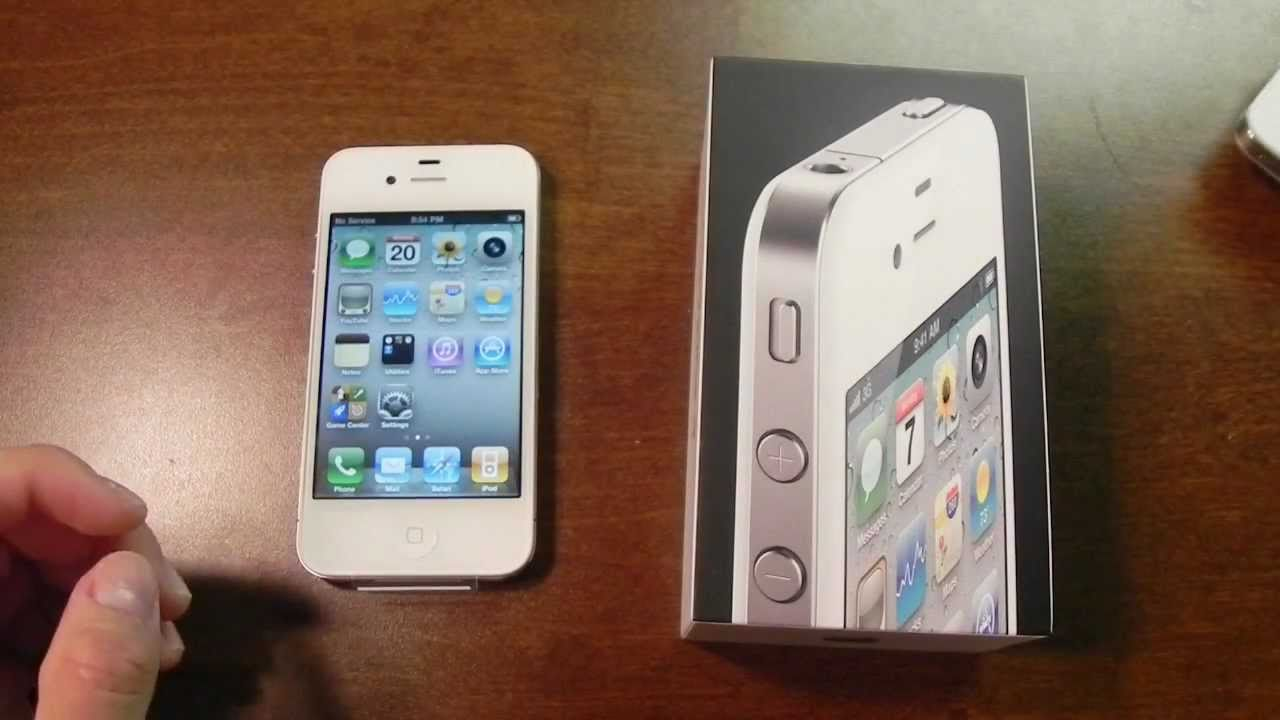 iPhone phone cases for iphone 4 ebay : White iPhone 4 (16GB) unboxing - YouTube