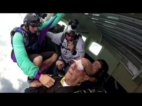 Kenneth Meyer, oldest skydiver at 102 and 172 days