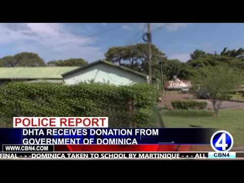 DHTA RECEIVES DONATION FROM THE GOVERNMENT OF DOMINICA