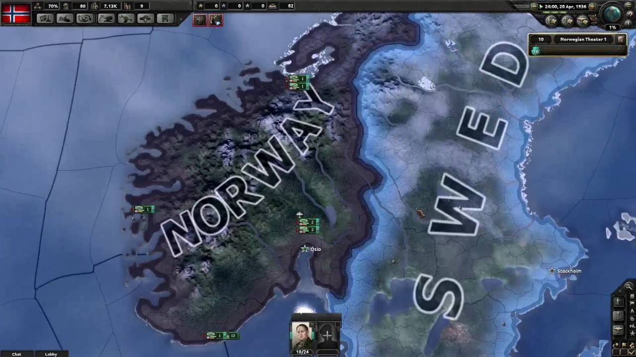 Hearts Of Iron Multiplayer Norway Sweden Finland Scandinavian - Norway map game