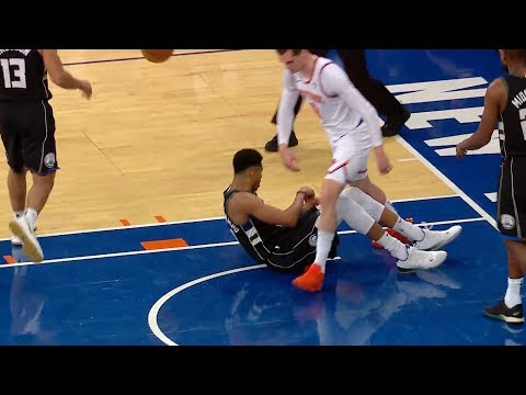 Mario Hezonja Steps Over Giannis Antetokounmpo - Bucks vs Knicks | December 1, 2018