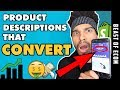 100% Bulletproof Shopify Product Description That CONVERT INTO SALES - (Dropshipping)