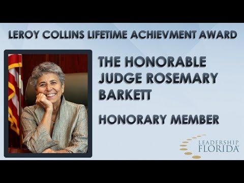 2018 LeRoy Collins Lifetime Achievement Award  - Judge Rosemary Barkett
