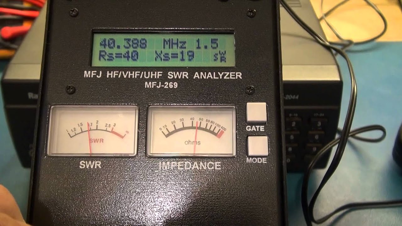 HOME MADE G5RV ANTENNA  FREQUENCY SWEEP WITH MFJ-269