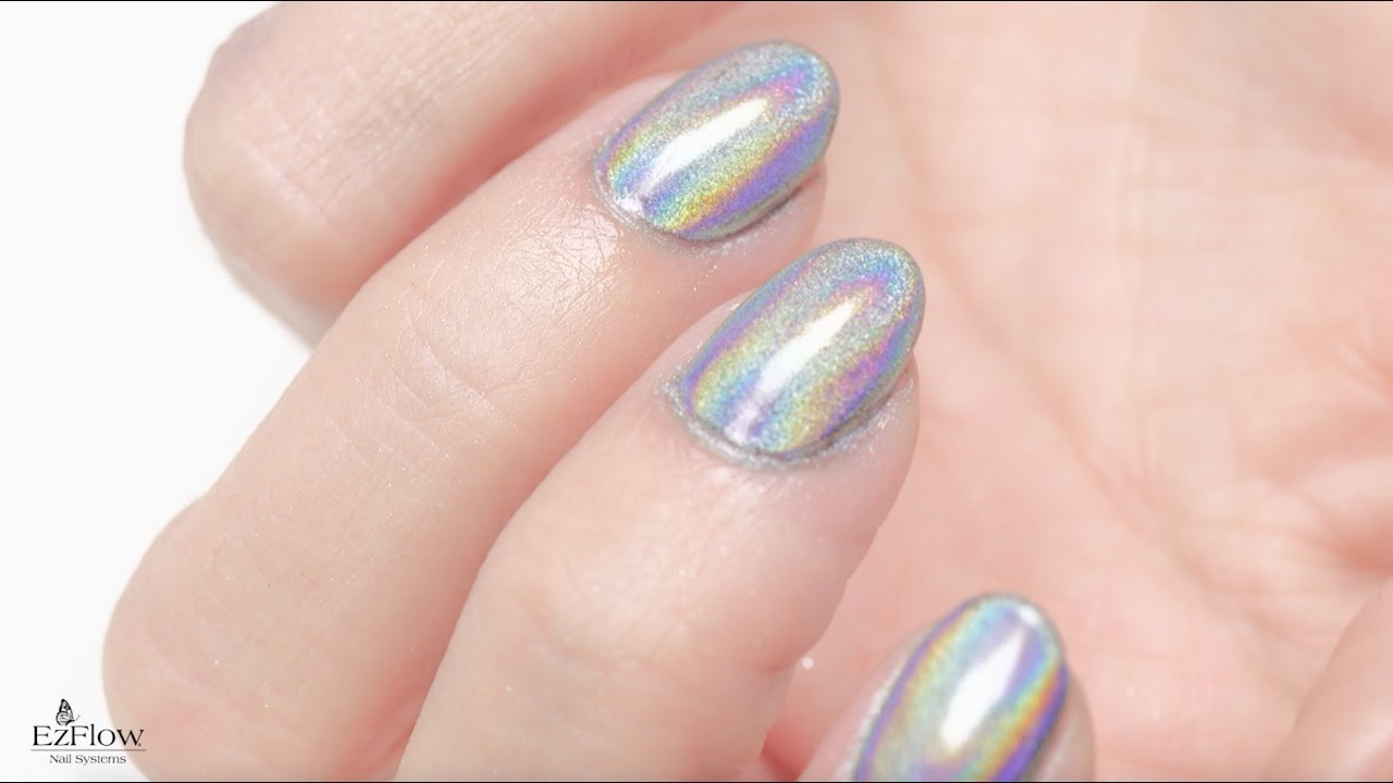 How to Apply EzFlow Holographic Chrome Effect Pigments - YouTube