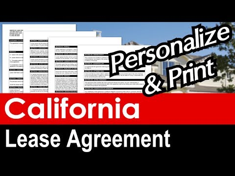 California Lease Agreement for Rental Property