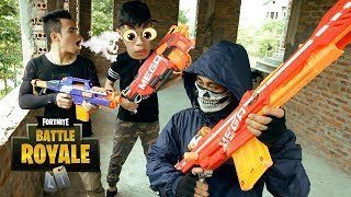 Battle Nerf War: Elite Warriors Nerf Guns Mafia Group Wanted Rescue Boss Nerf