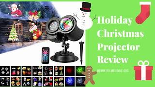 Christmas Holiday Outdoor/Indoor Light Projector Review