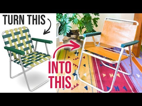 DIY Leather Chair out of an Old Lawn Chair - HGTV Handmade