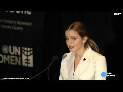 Emma Watson speaks as a proud feminist at U.N.