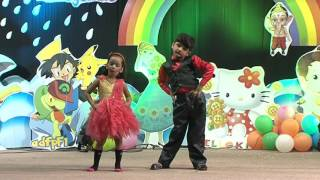 Pihu & Krishna Salsa Dance Performance on Annual Day @ Kidzee Nallagandla