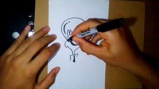 como dibujar cerebro-how to draw manadark (dexter´s laboratory)