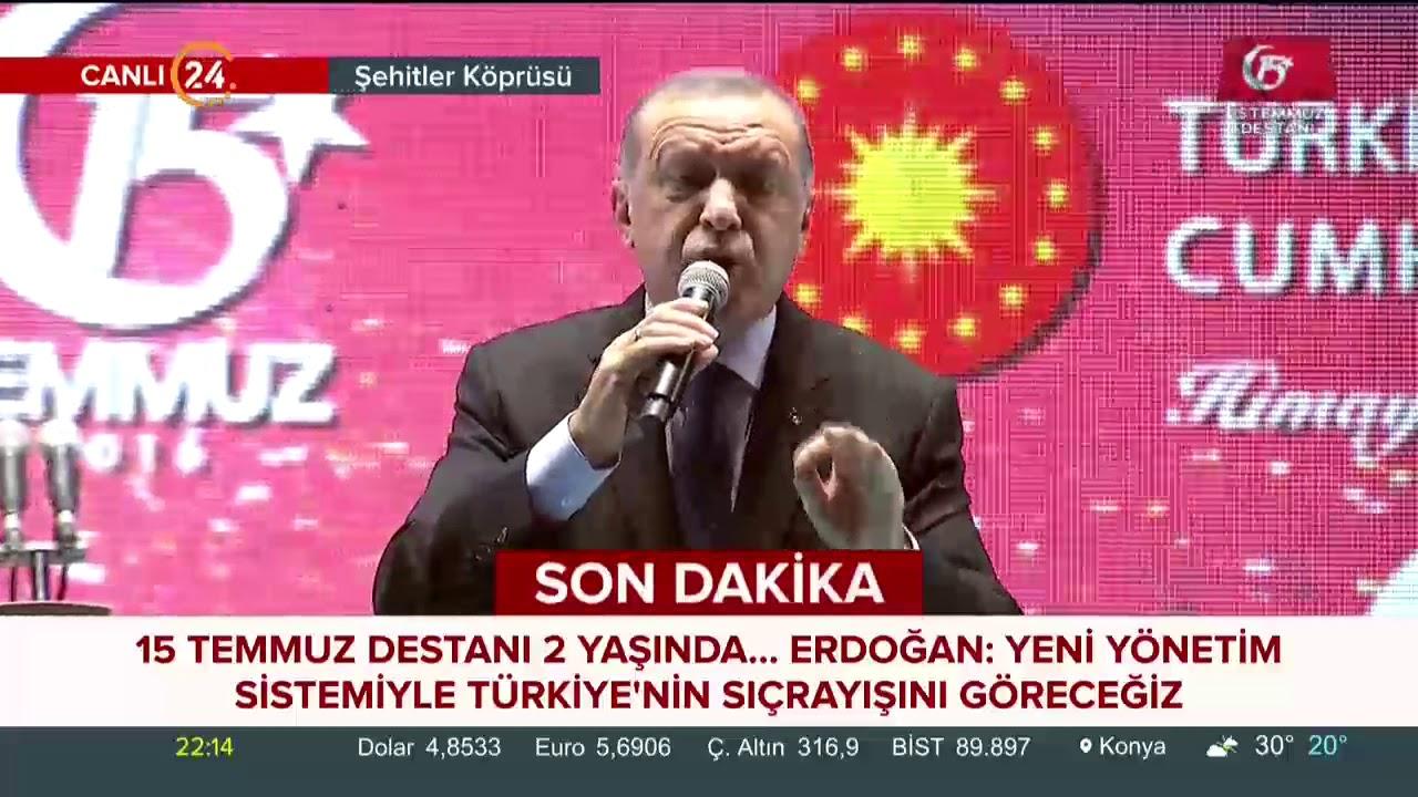 Başkan Erdoğan: İnşallah artık ülkemizde darbe defterini bir daha açılmamak üzere kapattık