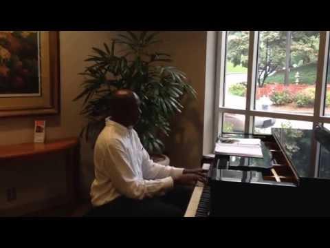 Piano player at Piedmont Hospital Atlanta