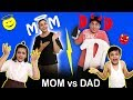 MOM vs DAD | Family Morning Routine #Fun #Family Aayu and Pihu Show