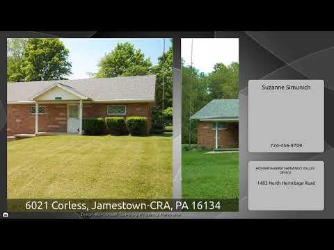 6021 Corless, Jamestown-CRA, PA 16134