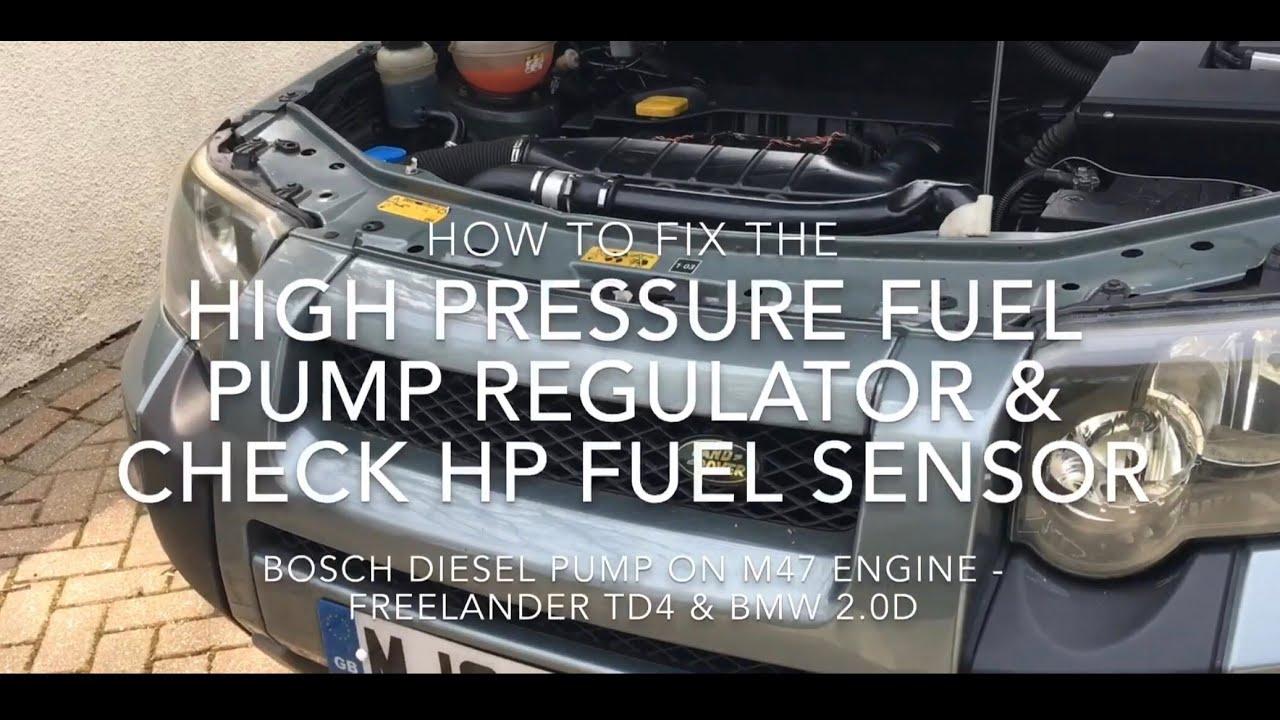 Fixing the HP Fuel Regulator on Freelander TD4, BMW M47  +Checking HP  sensor