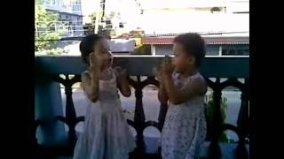 My sisters (Numa and Saya) singing
