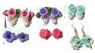 Handmade earrings with handmade air dry clay | Polymer clay jewellery