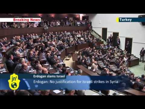 Turkish PM Erdogan: no excuses for 'unacceptable' Israeli airstrikes in Syria