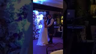 Hamilton wedding bride groom dance