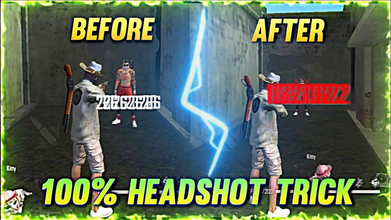 Freefire Headshot trick.  100% Headshot settings and sensitivity. Latest pro tips and tricks.