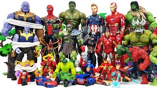 Thanos vs Avengers Battle! Go~! Spider-Man, Iron Man, Captain America, Venom, Red Hulk, She-Hulk
