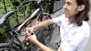 велосипедный замок заклинило