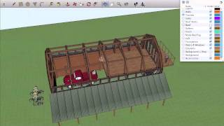Off-grid Community -004- Barn Design