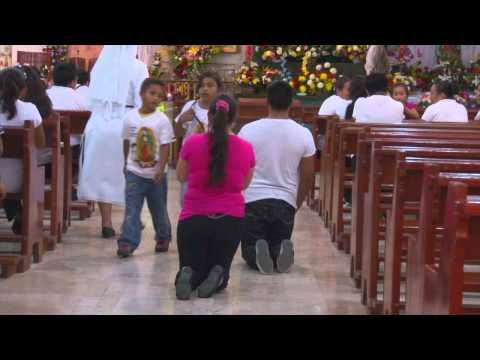 Devout followers visit the Virgin of Guadalupe