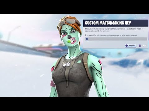 how to do custom matchmaking in fortnite battle royale