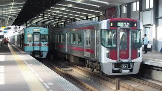 西鉄薬院駅 6050形・9000形すれ違い