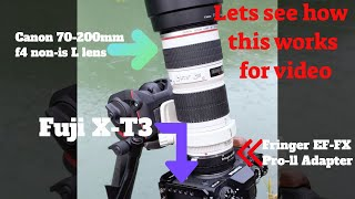 Canon 70-200mm f4 lens on the …